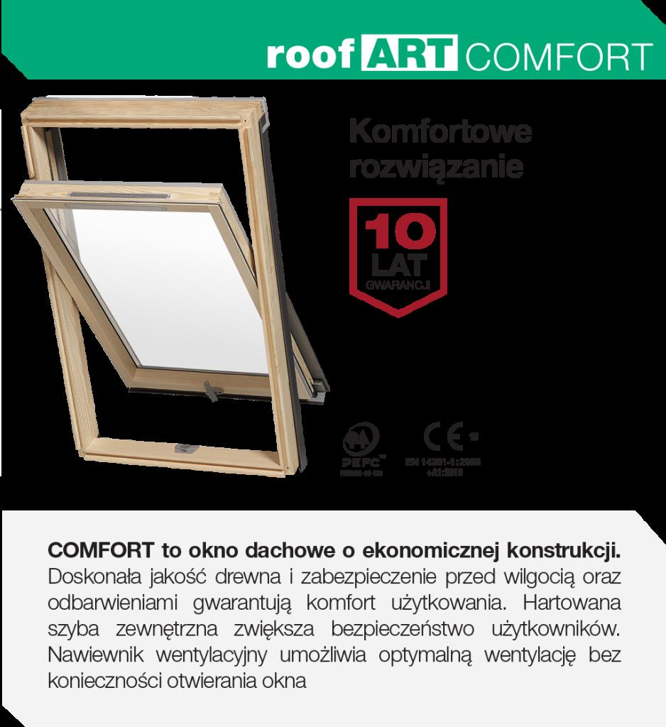 Ekonomiczne i energooszczędne okna dachowe RoofART Comfort