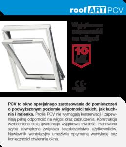 Ekonomiczne i energooszczędne okna dachowe RoofART PCV