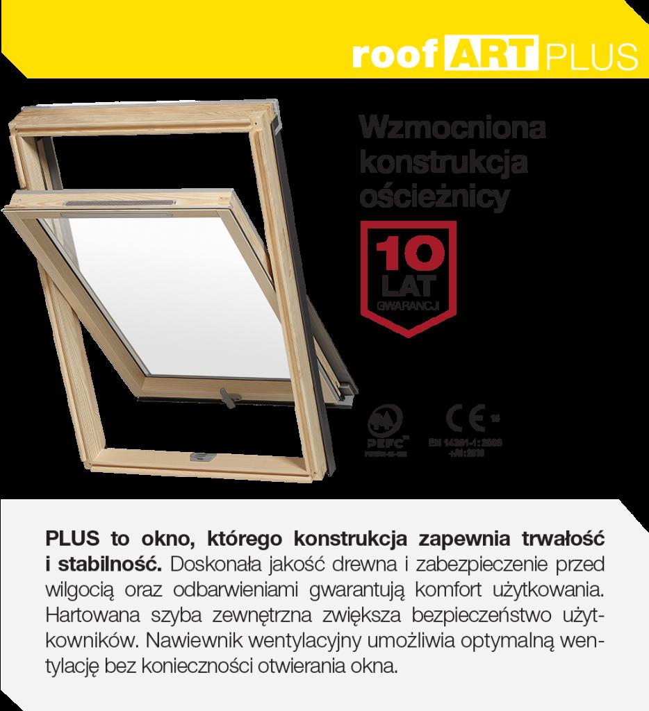 Ekonomiczne i energooszczędne okna dachowe RoofART Plus