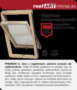 Ekonomiczne i energooszczędne okna dachowe RoofART Premium