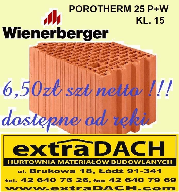 Dostepny Od Reki Porotherm 25 P W Kl 15 7 99zl Szt Brutto