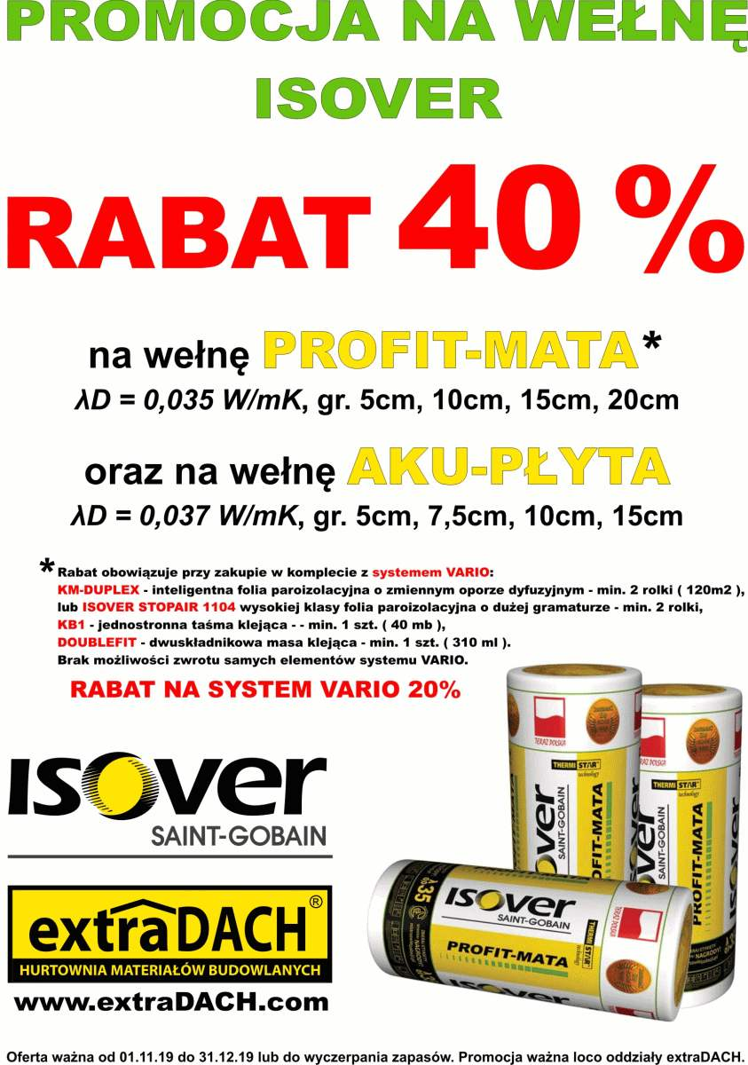 isover promocja system vario