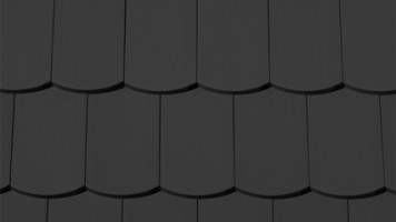 karpiówka Creaton Profil gładki segmentowa czarny mat angobowana