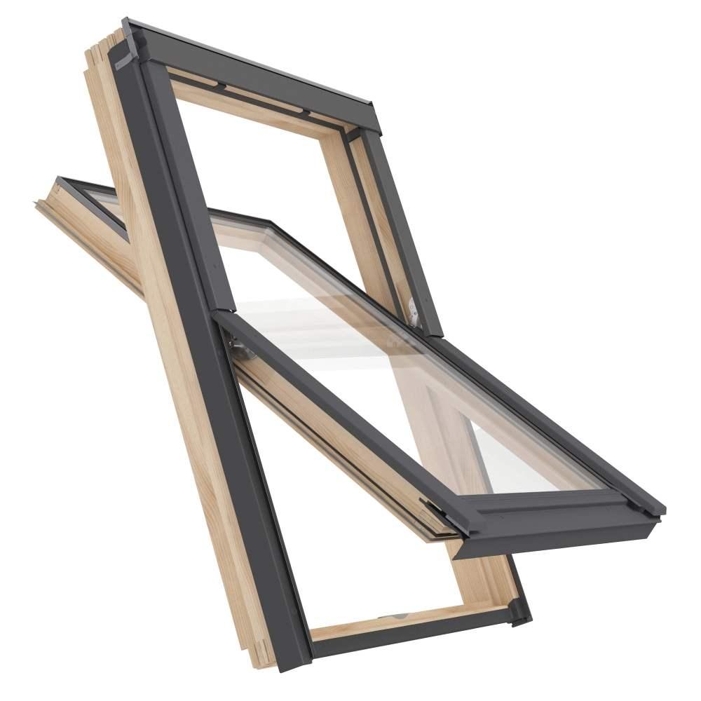 okna dachowe drewniane plastikowe