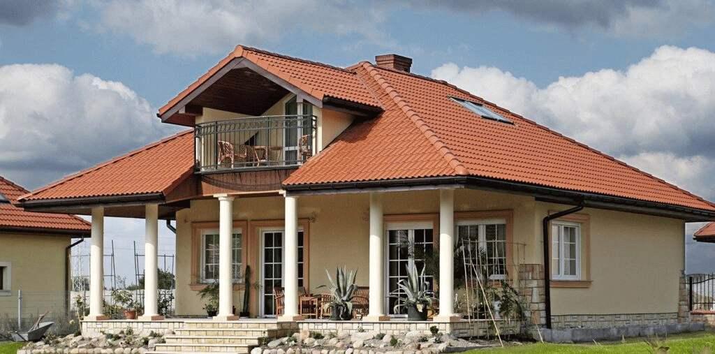 Pokrycie dachu dachówką betonową