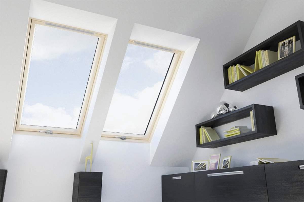 okna dachowe do pokoju dziennego