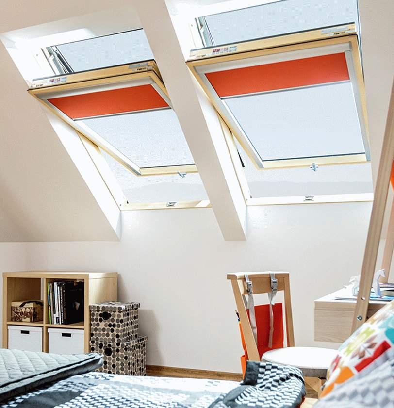 obrotowe okna dachowe
