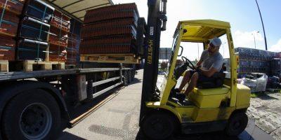 transport dachówek na budowę